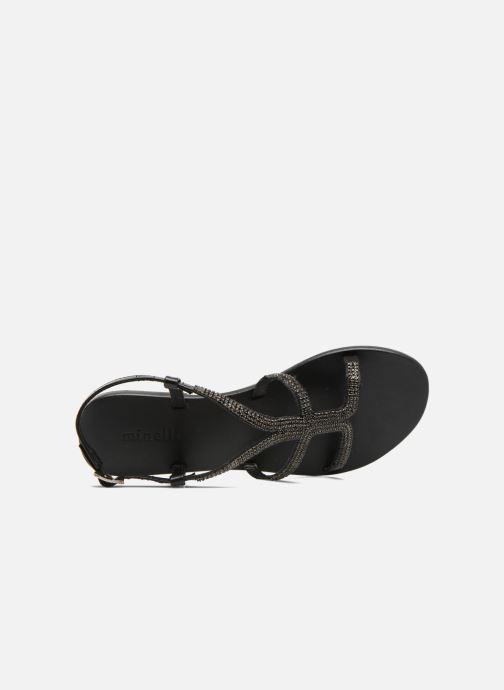 Sandales et nu-pieds Minelli F63 802 Noir vue gauche