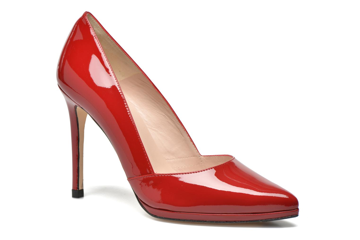 High heels Minelli F91 610/VER Red detailed view/ Pair view