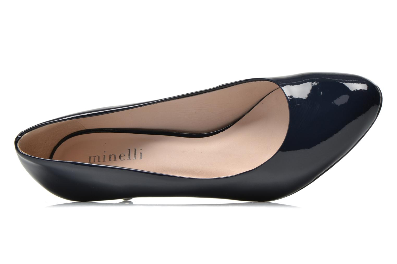 High heels Minelli F91 400/VER Blue view from the left