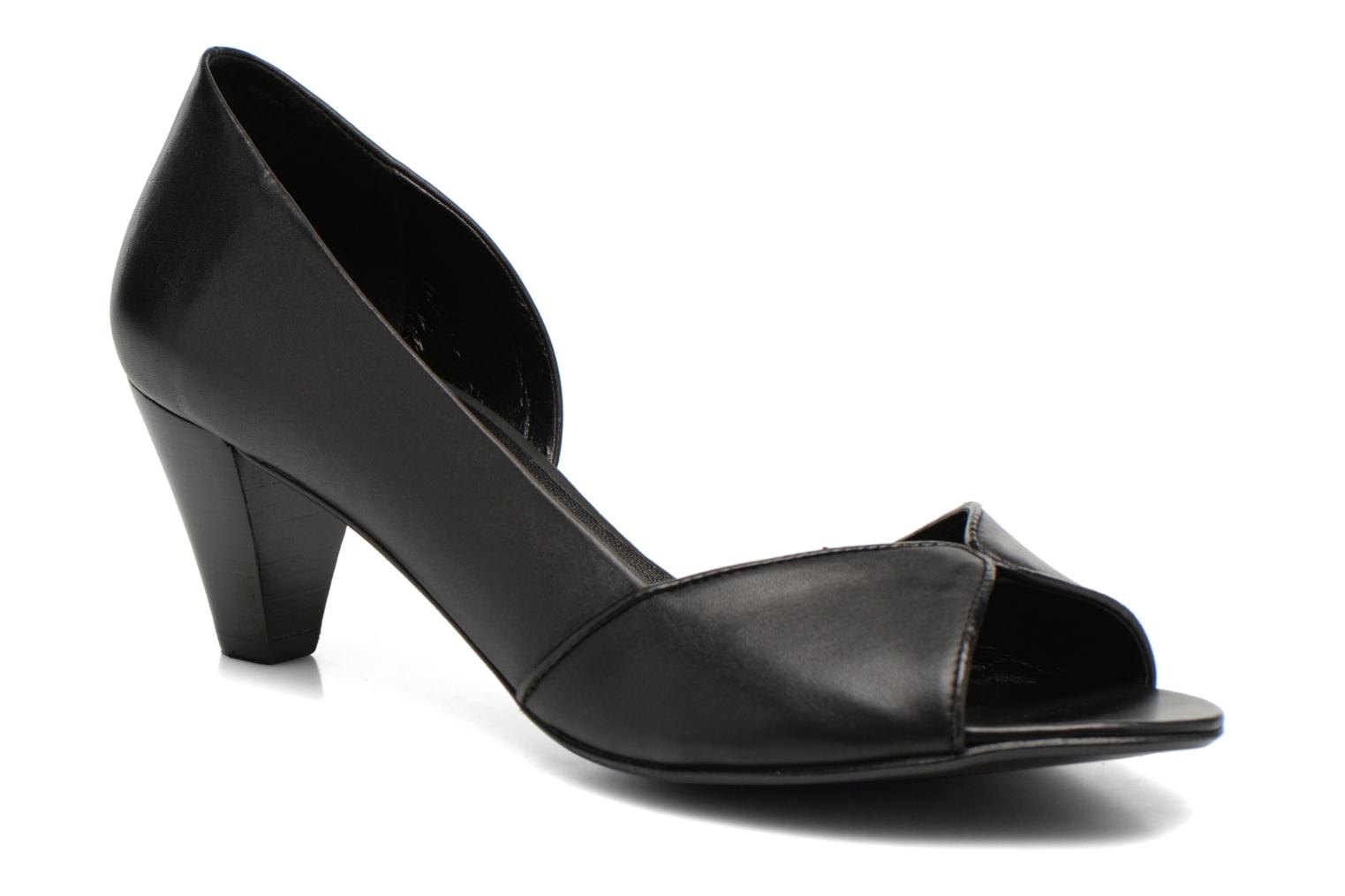High heels Minelli F93 614 Black detailed view/ Pair view