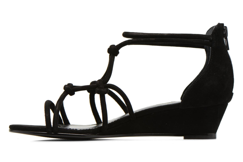 Sandales et nu-pieds Minelli F63 820/VEL Noir vue face