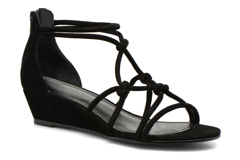 Sandales et nu-pieds Minelli F63 820/VEL Noir vue détail/paire