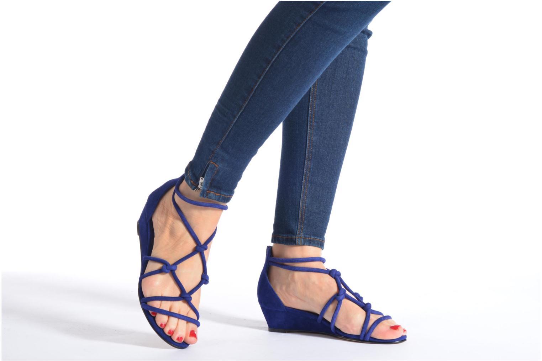 Sandales et nu-pieds Minelli F63 820/VEL Bleu vue bas / vue portée sac