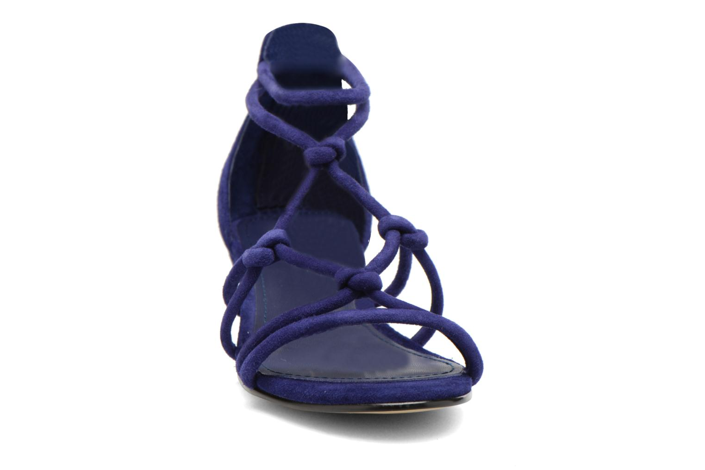 Sandales et nu-pieds Minelli F63 820/VEL Bleu vue portées chaussures