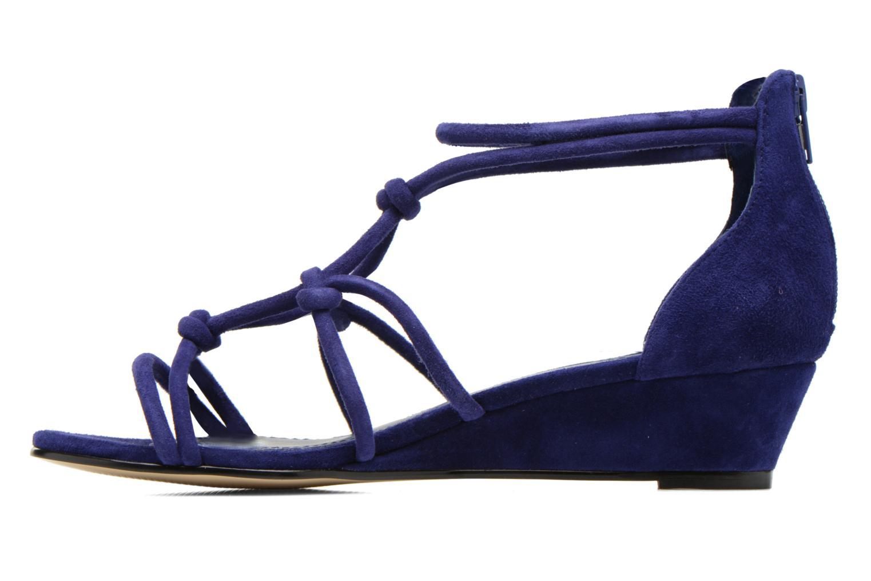 Sandales et nu-pieds Minelli F63 820/VEL Bleu vue face