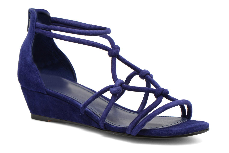 Sandales et nu-pieds Minelli F63 820/VEL Bleu vue détail/paire