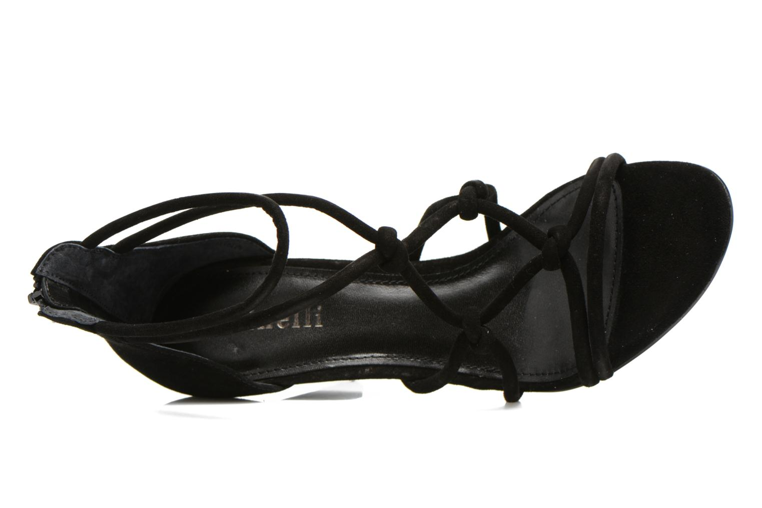 Sandals Minelli F93 847/VEL Black view from the left