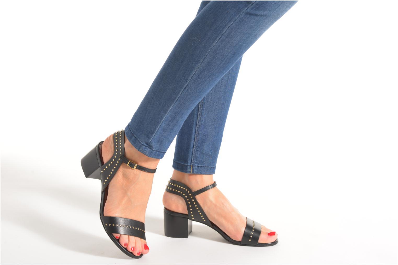 Sandales et nu-pieds Minelli F93 840 Noir vue bas / vue portée sac
