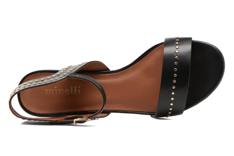Sandales et nu-pieds Minelli F93 840 Noir vue gauche