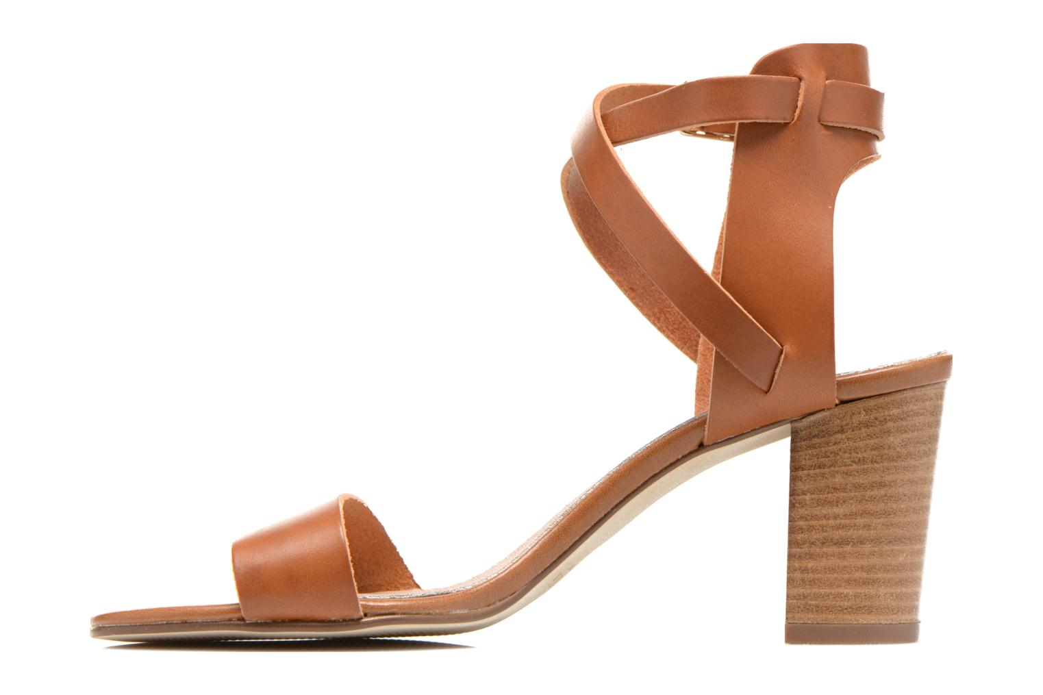 Sandals Minelli F93 684 Brown front view