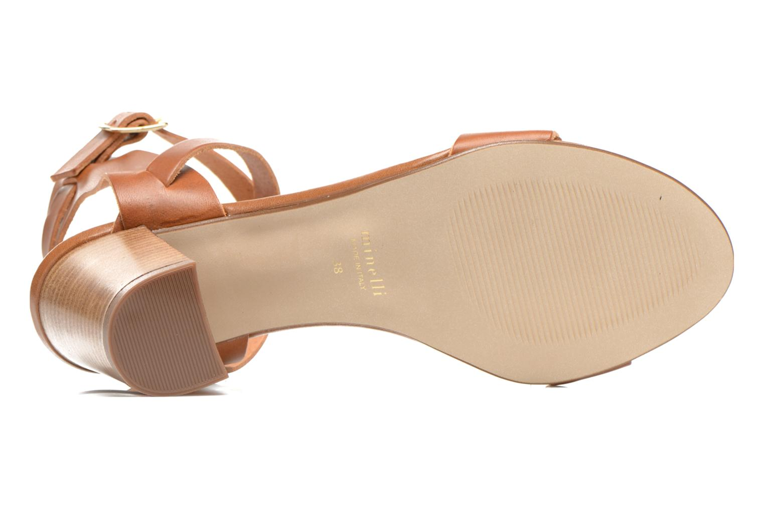 Sandals Minelli F93 684 Brown view from above