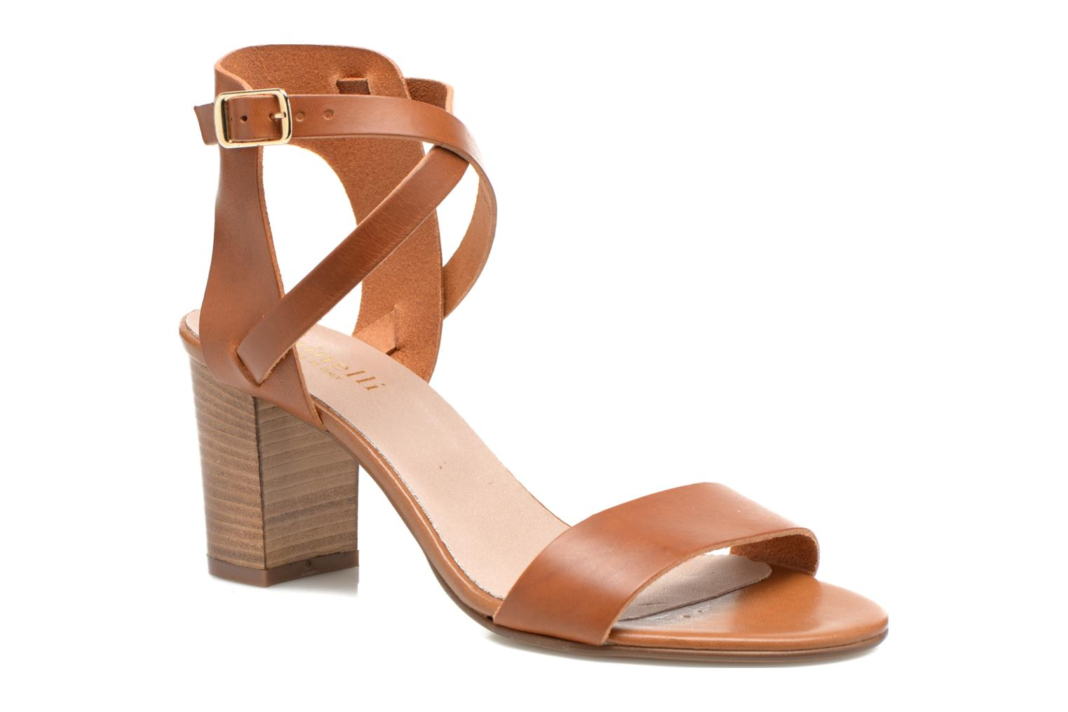 Sandals Minelli F93 684 Brown detailed view/ Pair view