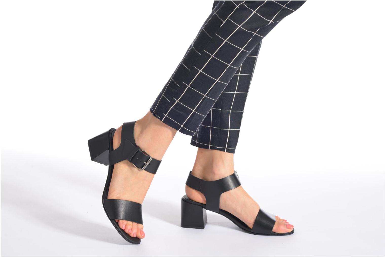 Sandales et nu-pieds Minelli F93 879 Noir vue bas / vue portée sac