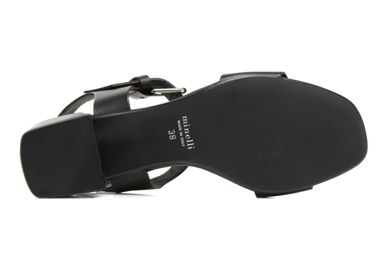 Sandales et nu-pieds Minelli F93 879 Noir vue haut