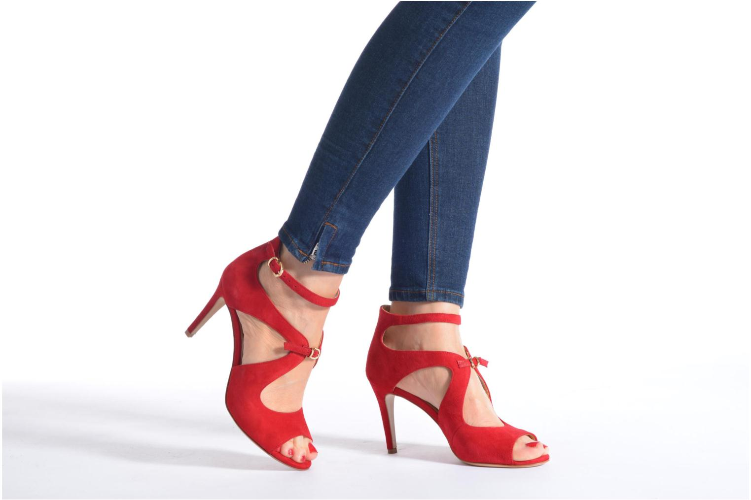 Sandals Minelli F93 652/VEL Red view from underneath / model view