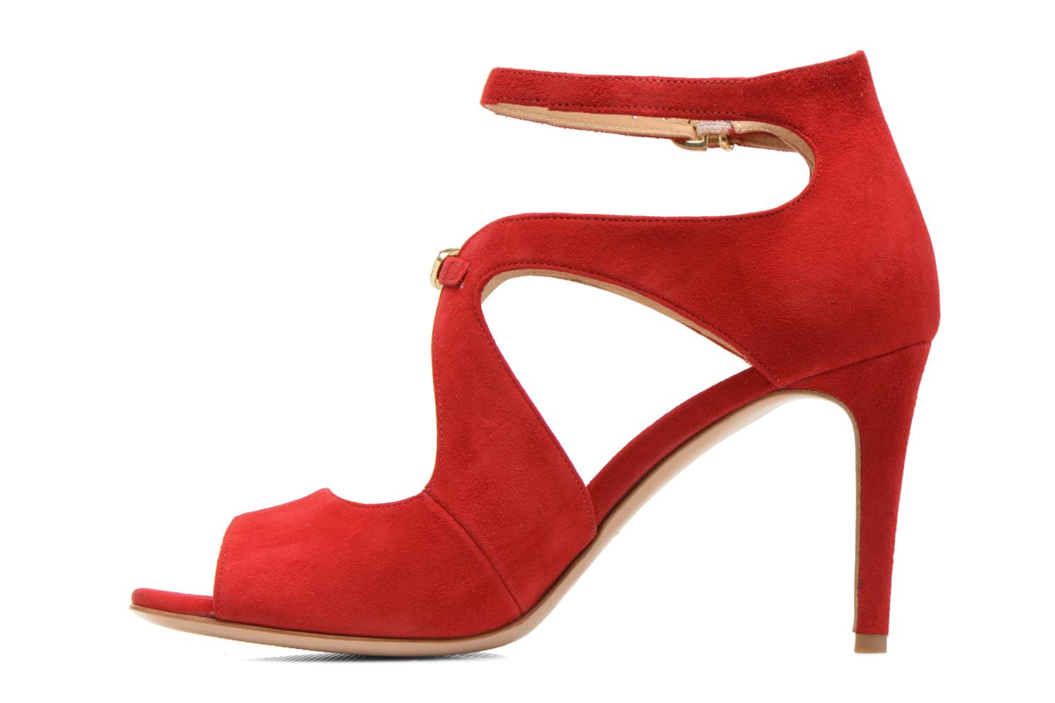 Sandals Minelli F93 652/VEL Red front view