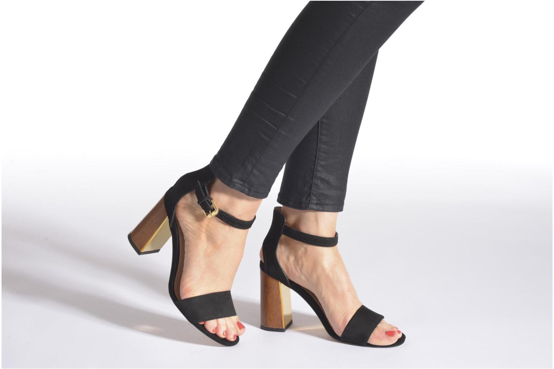 Sandales et nu-pieds Minelli F93 860/NUB Noir vue bas / vue portée sac