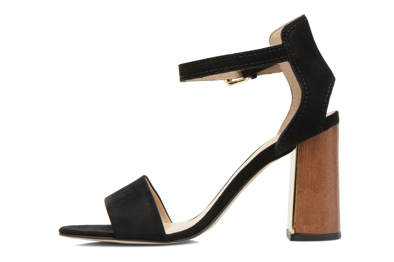 Sandales et nu-pieds Minelli F93 860/NUB Noir vue face