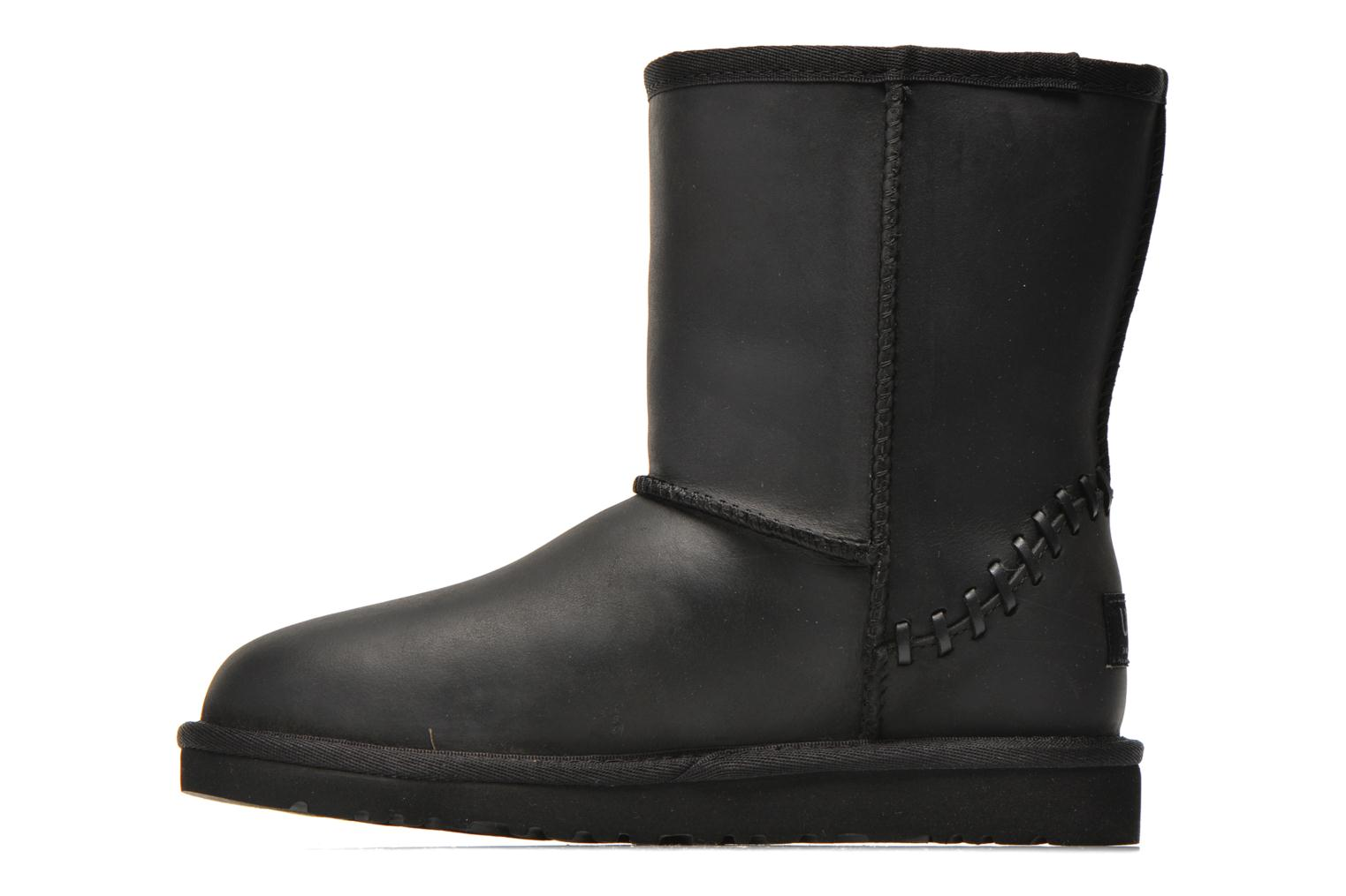 Boots & wellies UGG K Classic Short Deco Black front view