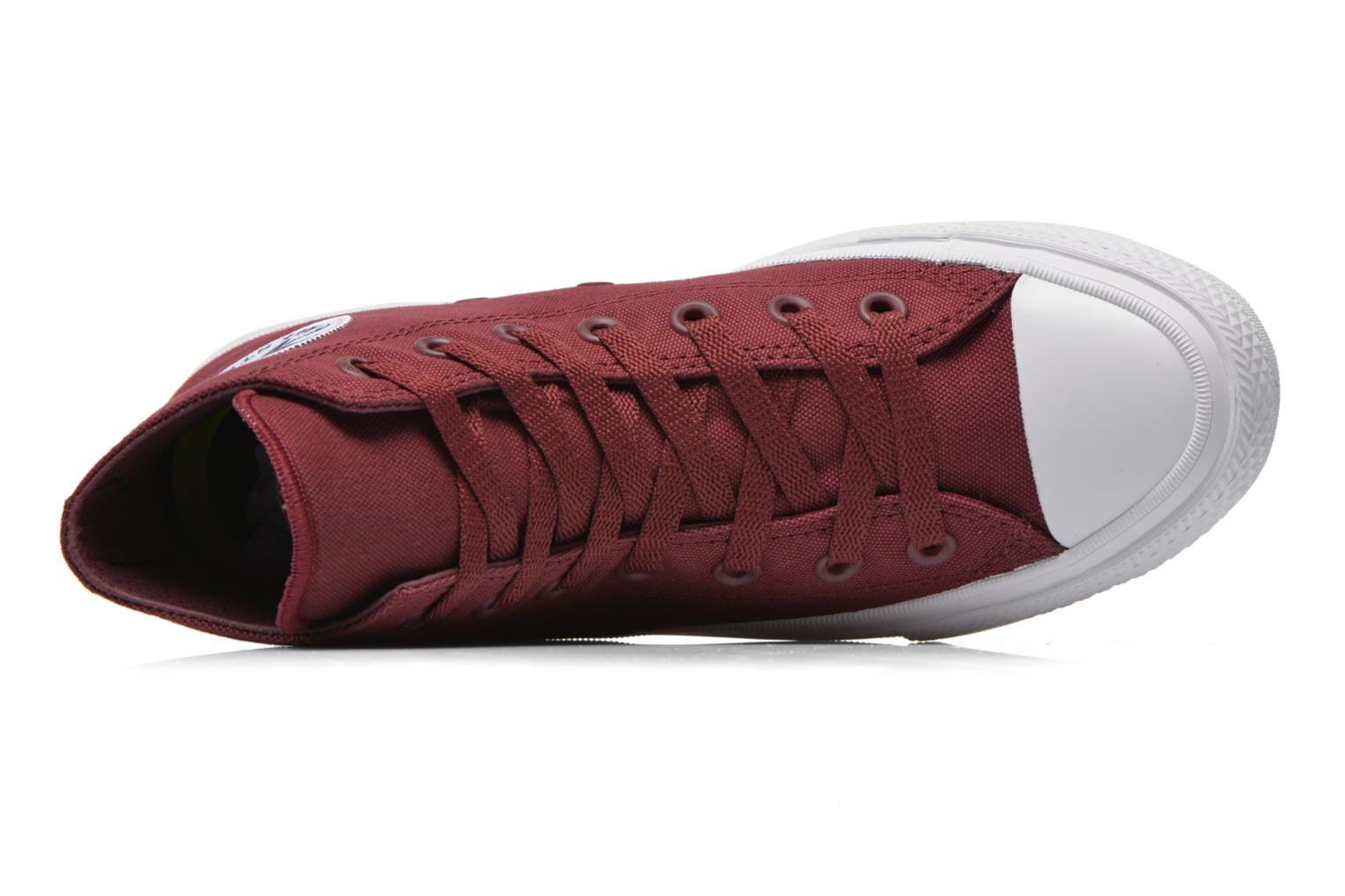 Trainers Converse Chuck Taylor All Star II Hi W Burgundy view from the left