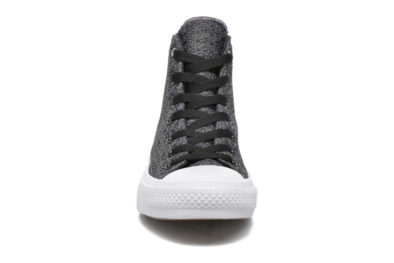 Baskets Converse Chuck Taylor All Star II Hi W Gris vue portées chaussures