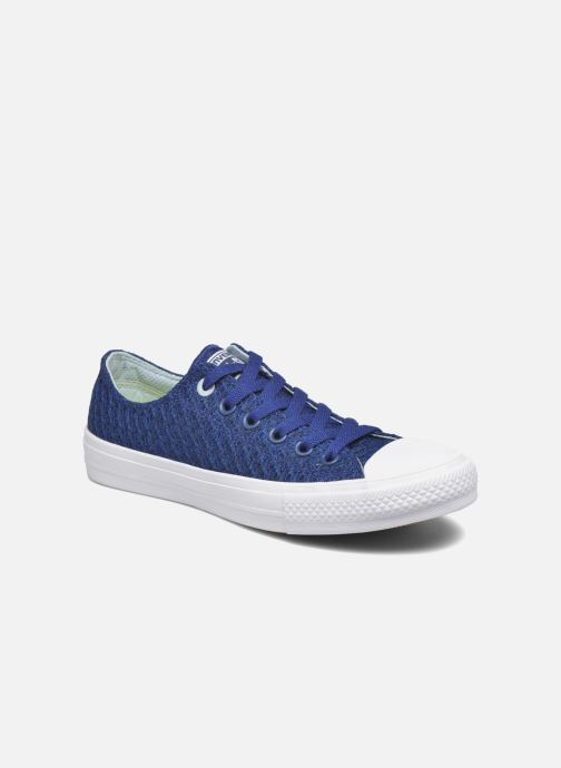 Baskets Converse Chuck Taylor All Star II Ox W Bleu vue détail/paire