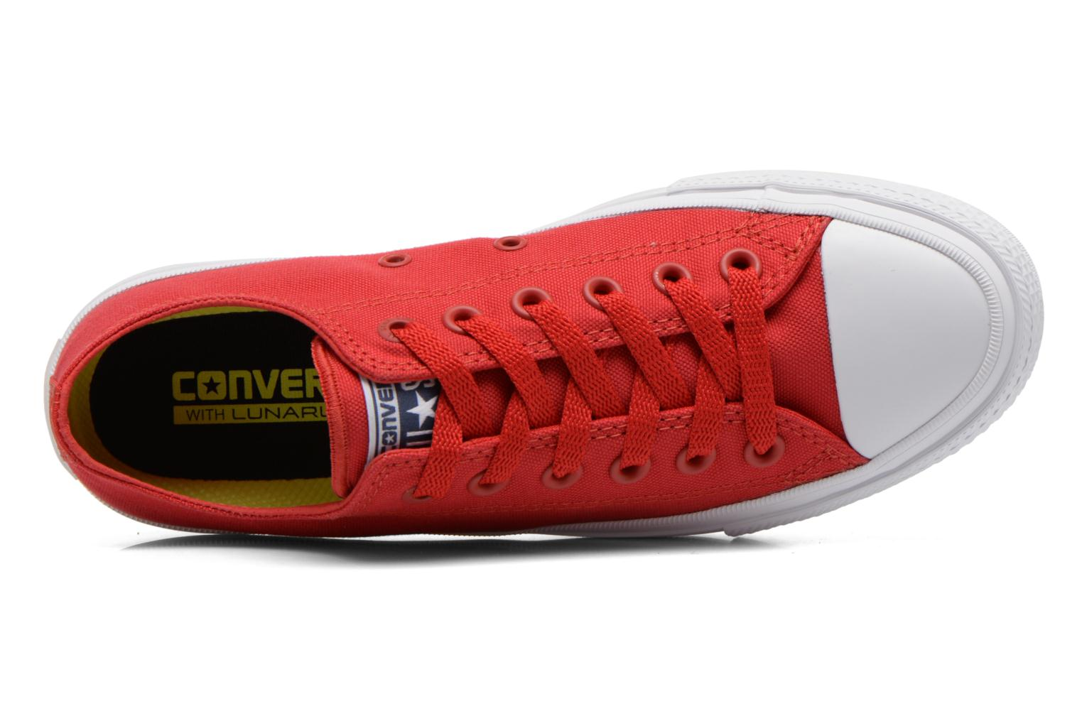 Baskets Converse Chuck Taylor All Star II Ox M Rouge vue gauche