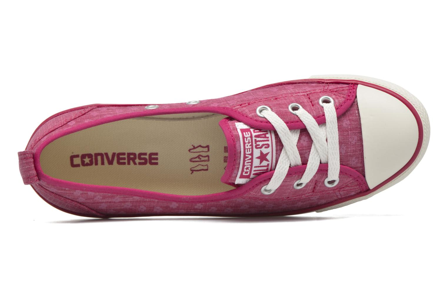 Baskets Converse Chuck Taylor All Star Ballet Lace Rose vue gauche