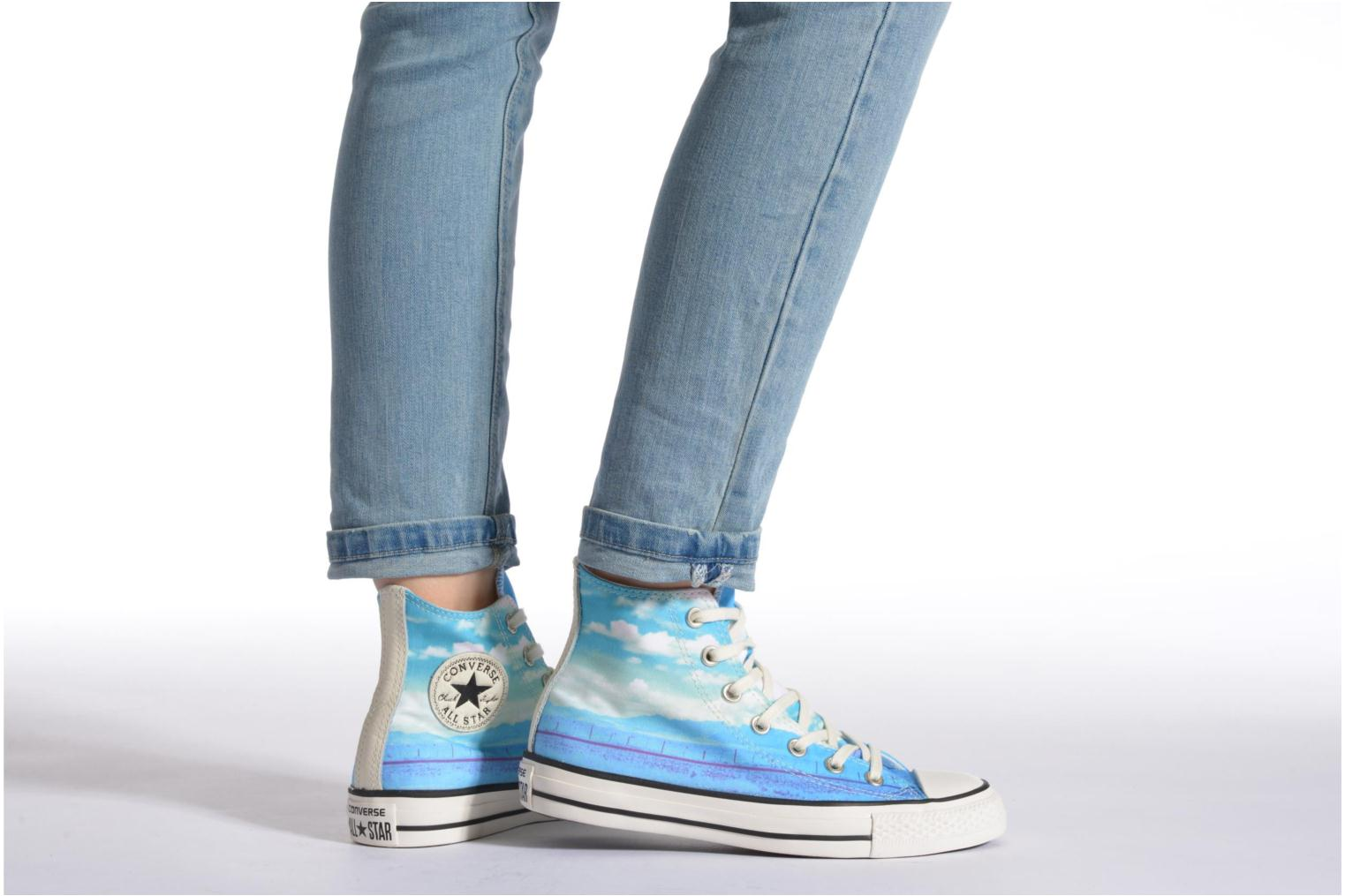 Trainers Converse Chuck Taylor All Star Hi Photo Real Sunset W Multicolor view from underneath / model view