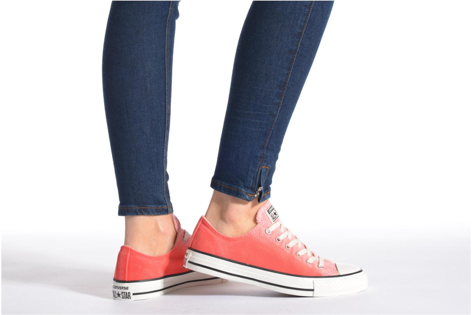 Baskets Converse Chuck Taylor All Star Ox Sunset Wash W Multicolore vue bas / vue portée sac
