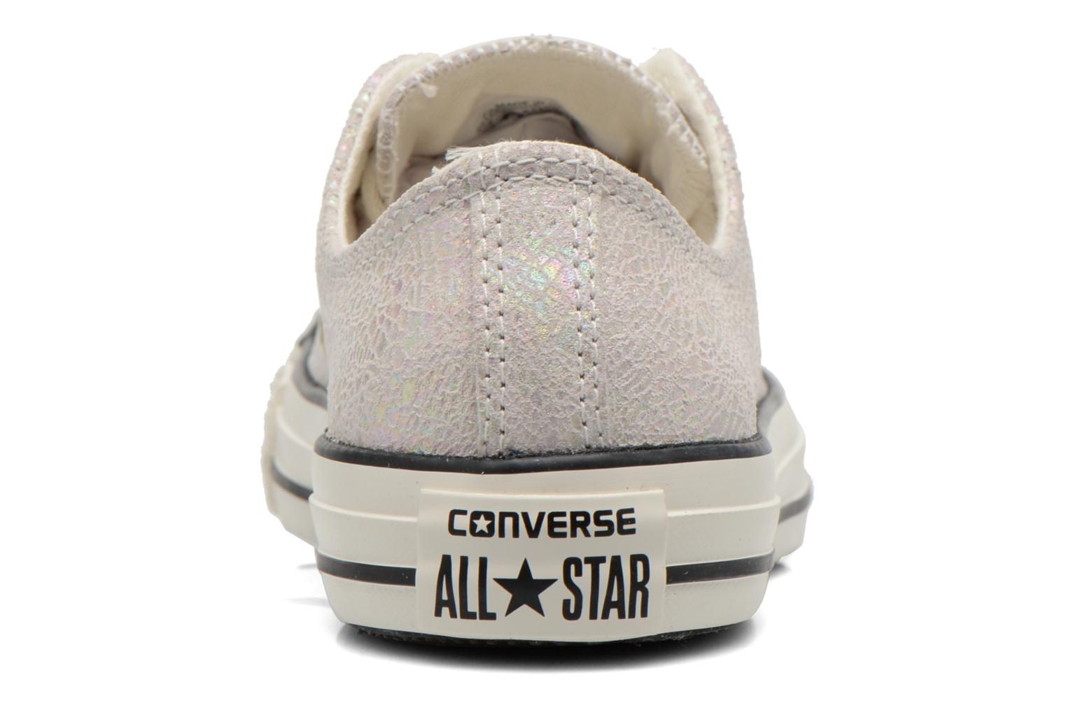 Baskets Converse Chuck Taylor All Star Ox Oil Slick Leather W Blanc vue droite