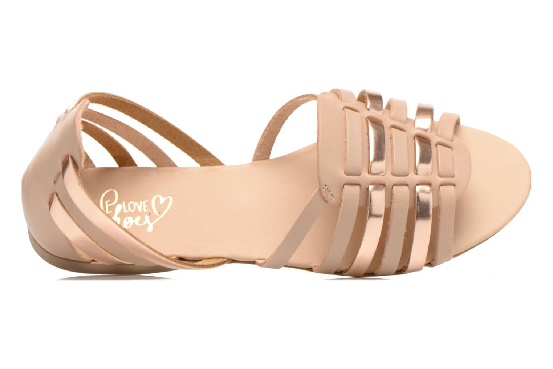 Sandales et nu-pieds I Love Shoes Damuse Beige vue gauche