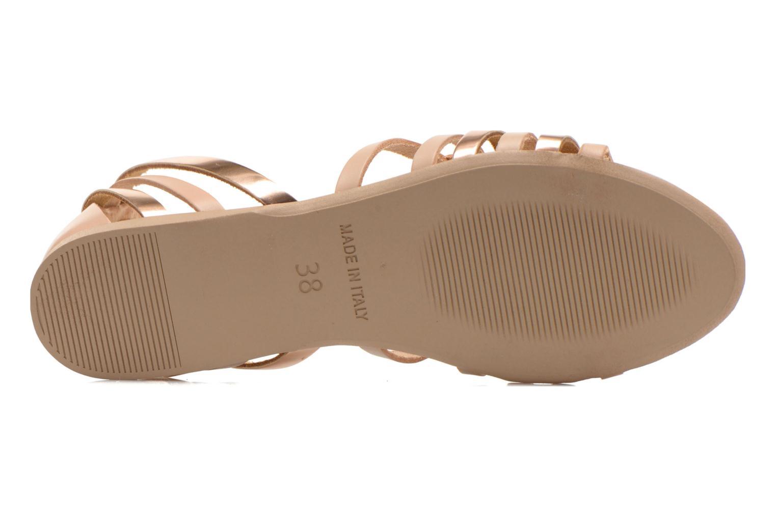 Sandales et nu-pieds I Love Shoes Damuse Beige vue haut