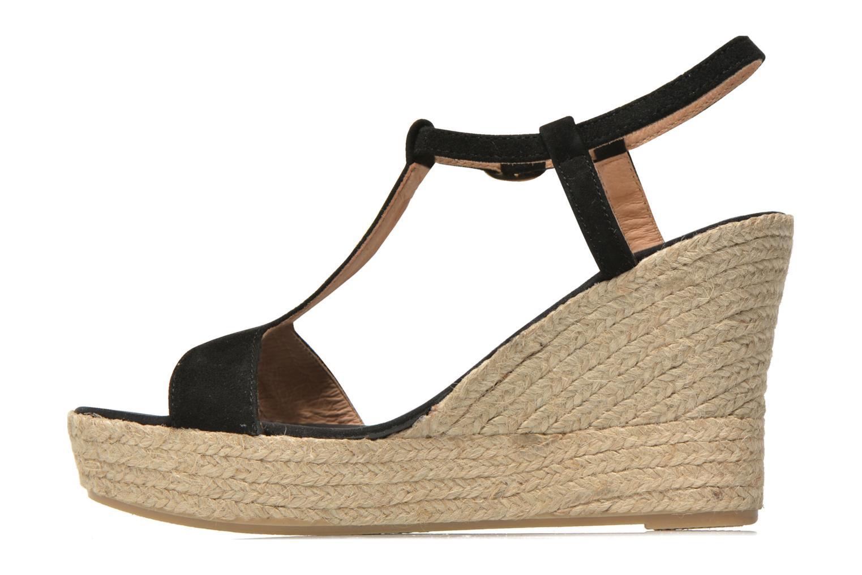 Sandales et nu-pieds Georgia Rose Dalert Noir vue face