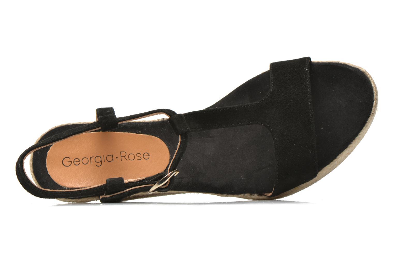Sandales et nu-pieds Georgia Rose Dalert Noir vue gauche