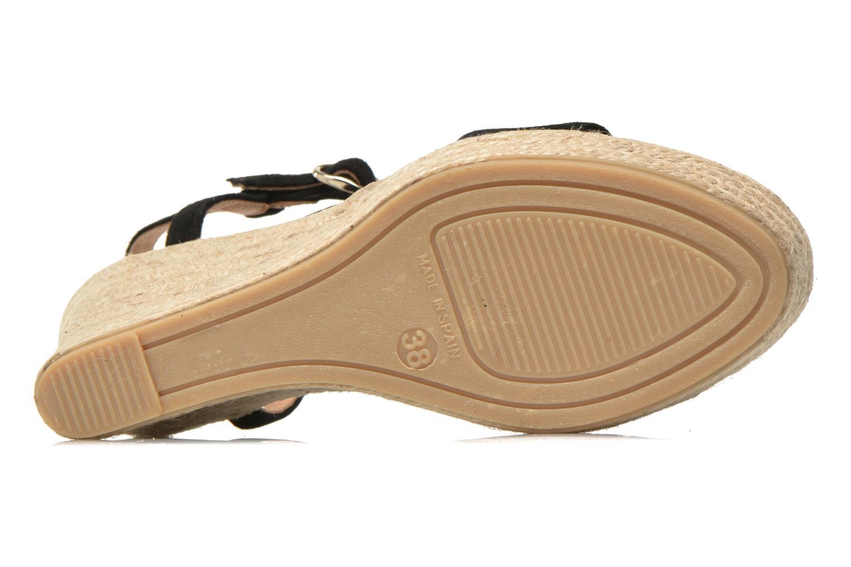 Sandales et nu-pieds Georgia Rose Dalert Noir vue haut
