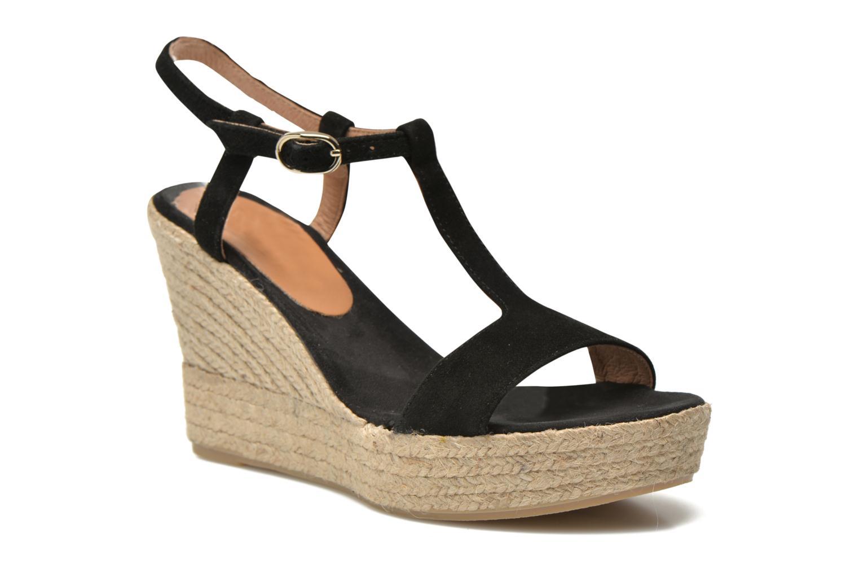 Sandales et nu-pieds Georgia Rose Dalert Noir vue détail/paire