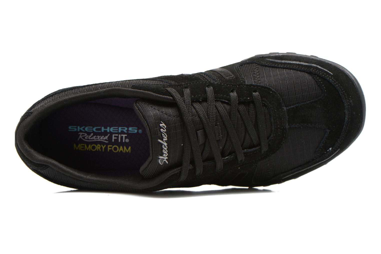 Baskets Skechers Breathe-Easy - Jackpot 22532 Noir vue gauche
