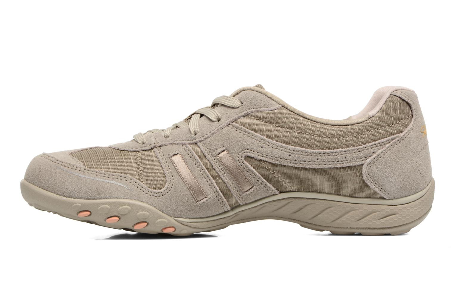 Baskets Skechers Breathe-Easy - Jackpot 22532 Beige vue face