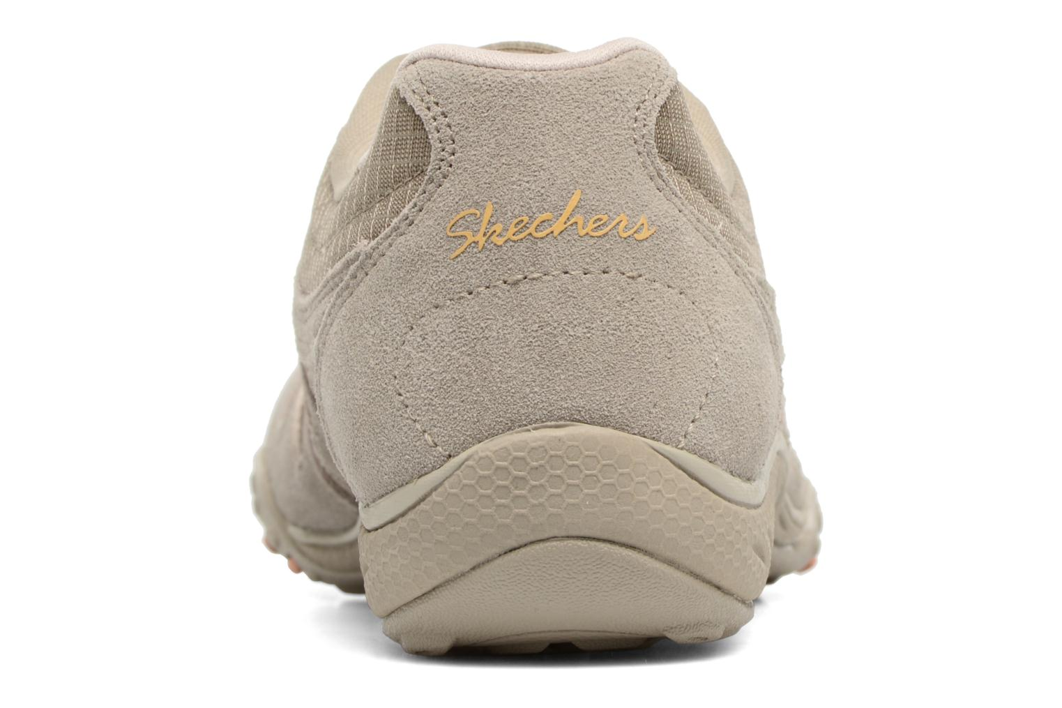 Baskets Skechers Breathe-Easy - Jackpot 22532 Beige vue droite