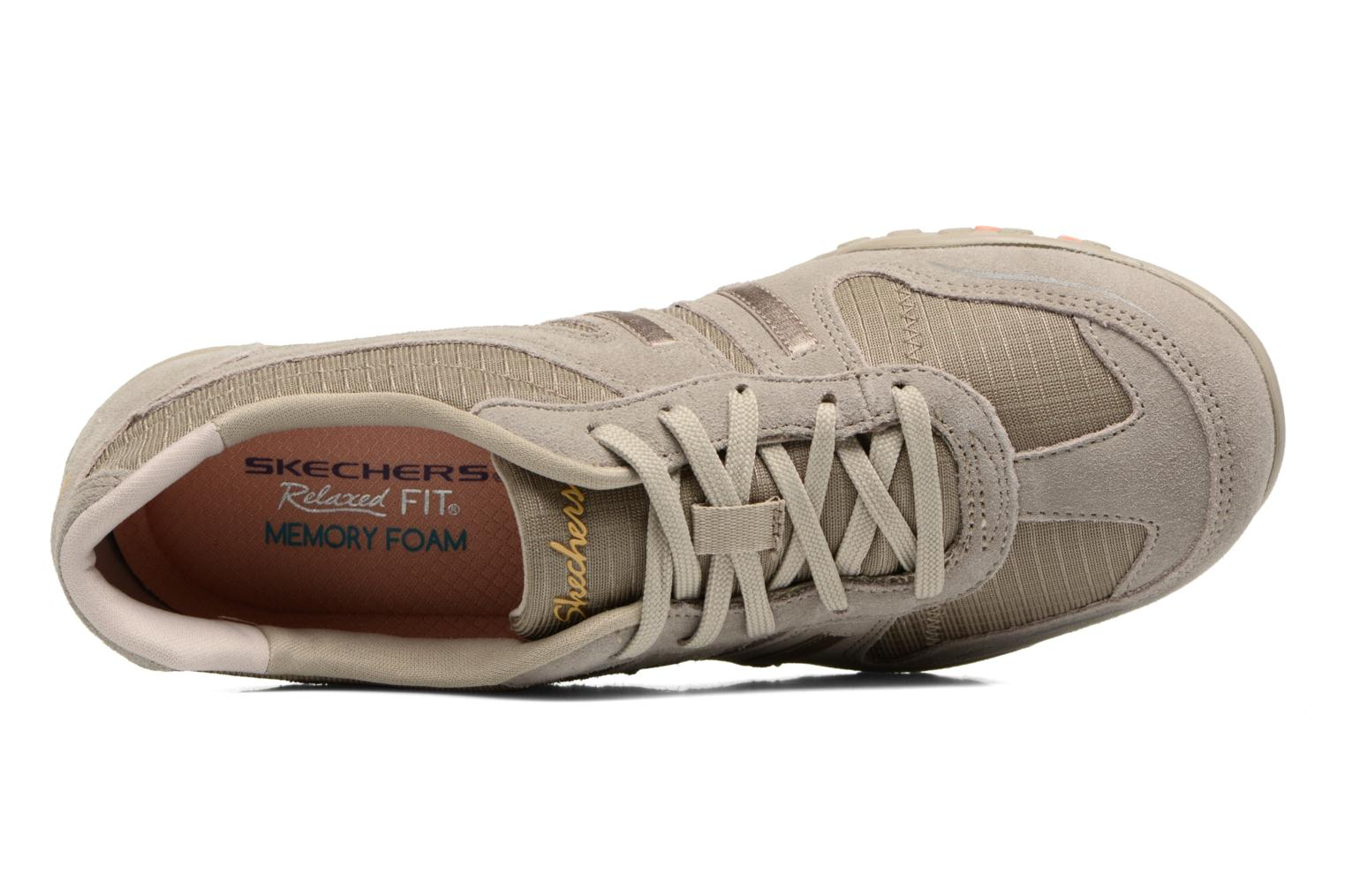 Baskets Skechers Breathe-Easy - Jackpot 22532 Beige vue gauche