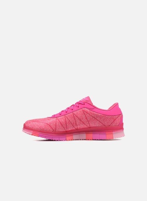 Sportschoenen Skechers Go Flex - Ability 14011 Roze voorkant