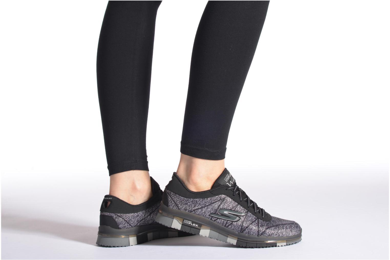 Chaussures de sport Skechers Go Flex - Ability 14011 Bleu vue bas / vue portée sac