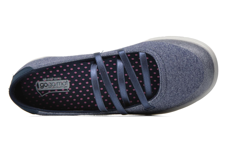 Ballerines Skechers Go Step - Pose 14209 Bleu vue gauche