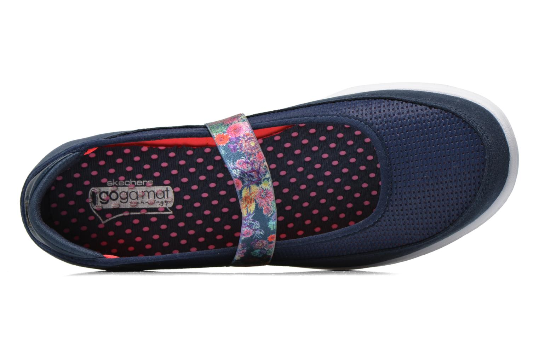 Ballerines Skechers Go Step - Bloom 14214 Bleu vue gauche