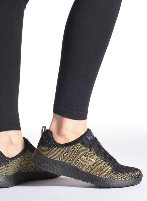 Chaussures de sport Skechers Burst - First Glimpse 12438 Noir vue bas / vue portée sac
