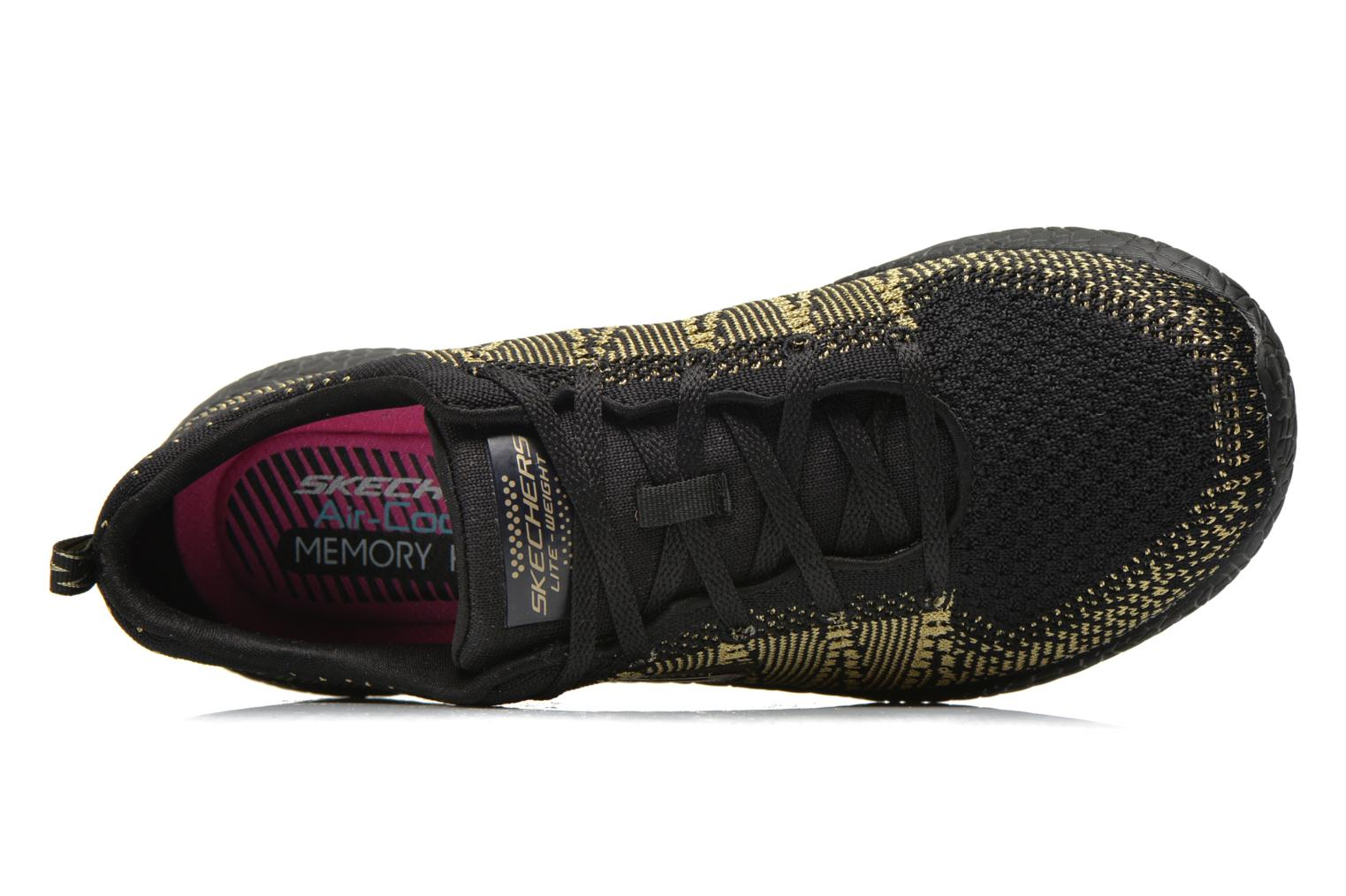 Sport shoes Skechers Burst - First Glimpse 12438 Black view from the left