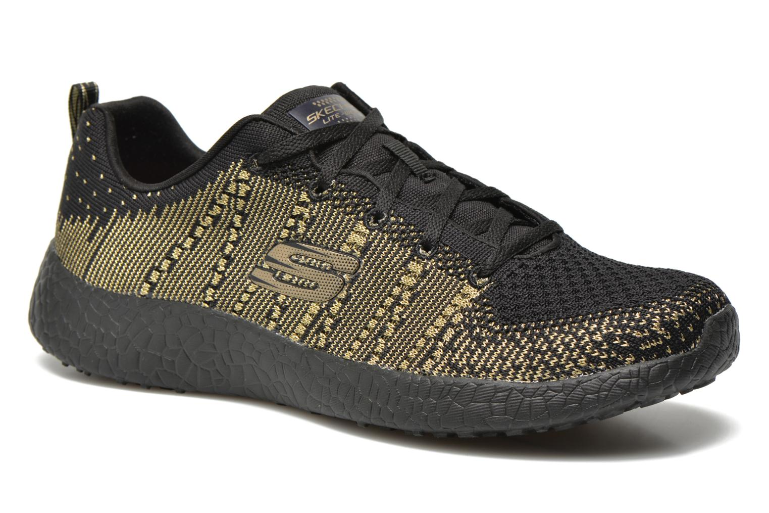 Sport shoes Skechers Burst - First Glimpse 12438 Black detailed view/ Pair view