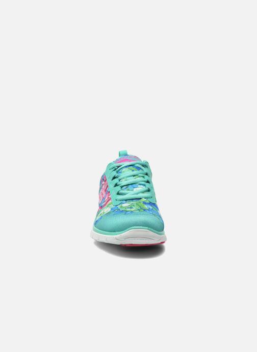 Sportskor Skechers Flex Appeal- Wildflowers 12448 Grön bild av skorna på