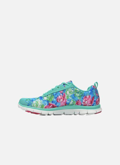 Zapatillas de deporte Skechers Flex Appeal- Wildflowers 12448 Verde vista de frente